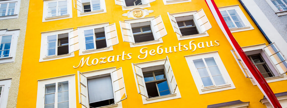 Mozarts Geburtshaus - Ausflugsziel in der Stadt Salzburg